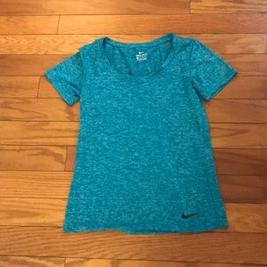 Nike Aqua Short Sleeve Top
